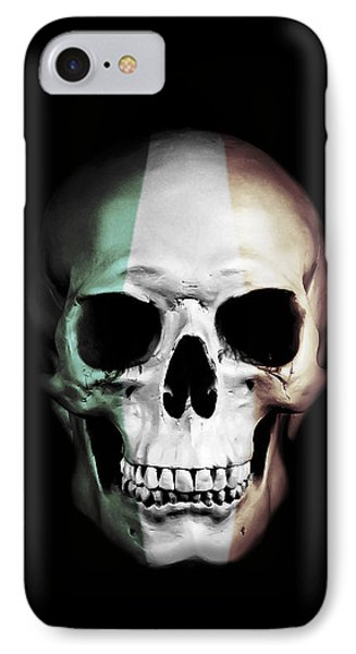 Irish Skull IPhone Case by Nicklas Gustafsson