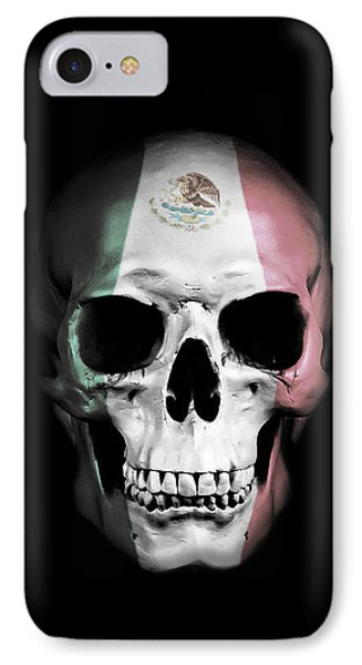 IPhone Case featuring the digital art Mexican Skull by Nicklas Gustafsson