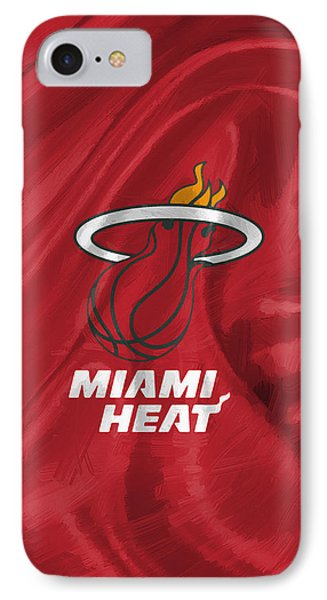Miami Heat IPhone Case by Afterdarkness