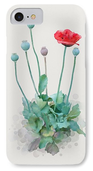 Poppy IPhone Case by Ivana Westin
