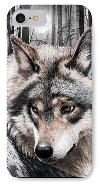 A Grey Wolf  Phone Case by Jasmina Susak