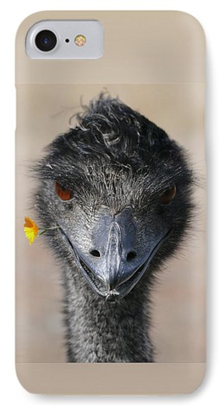 Happy Emu IPhone Case by Ivana Westin
