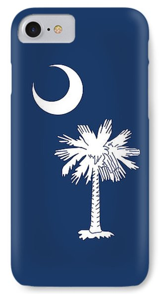IPhone Case featuring the digital art Flag Of South Carolina Authentic Version by Bruce Stanfield