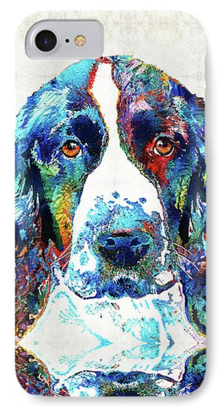 Colorful English Springer Spaniel Dog By Sharon Cummings IPhone Case