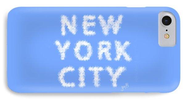 New York City Skywriting Typography IPhone Case by Georgeta Blanaru