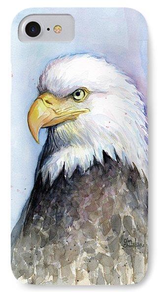 Bald Eagle Portrait IPhone Case by Olga Shvartsur