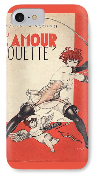 L'amour Fouette Phone Case by Mario Laboccetta
