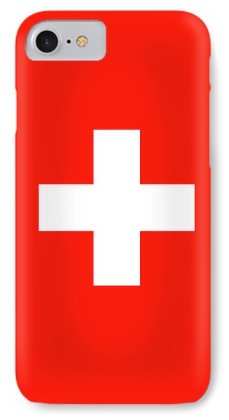 IPhone Case featuring the digital art Flag Of Switzerland by Bruce Stanfield