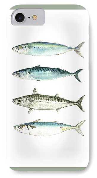 Mackerel Fishes IPhone Case by Juan Bosco