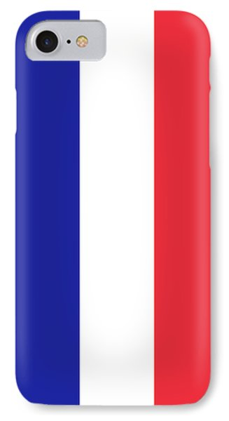 IPhone Case featuring the digital art Flag Of France High Quality Authentic Image by Bruce Stanfield
