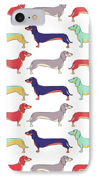 Dachshunds IPhone Case by Kelly Jade King