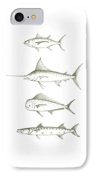 Saltwater Gamefishes IPhone Case by Juan Bosco