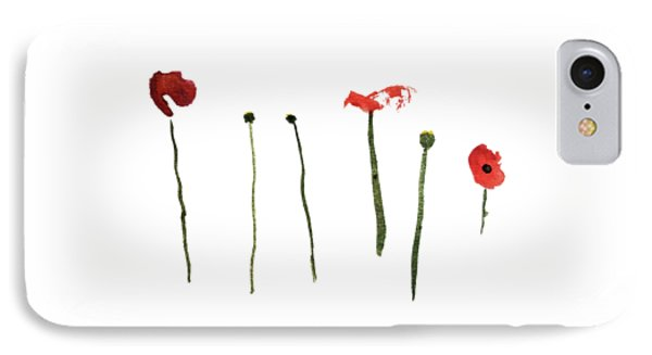 Red Poppies Phone Case by Stephanie Peters
