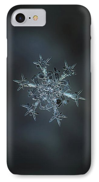 Snowflake Photo - Starlight II Phone Case by Alexey Kljatov