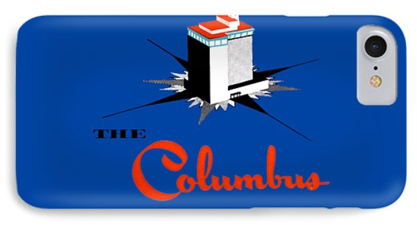 IPhone Case featuring the painting 1955 Columbus Hotel Of Miami Florida  by Historic Image