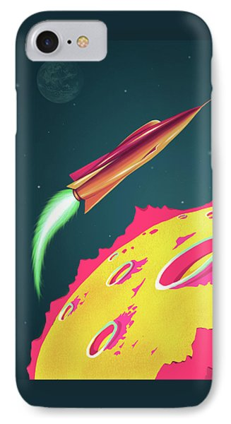 Flying Saucers Attack IPhone Case by Little Bunny Sunshine