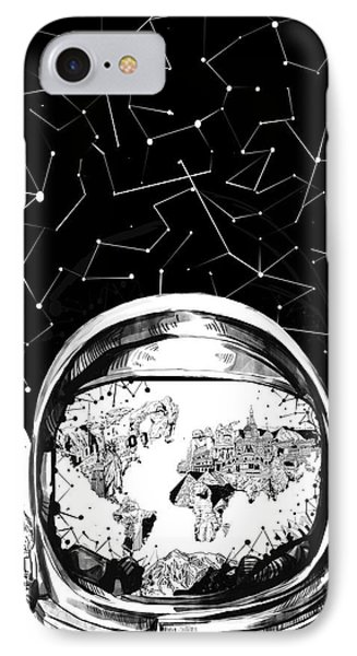 Astronaut World Map 8 IPhone Case