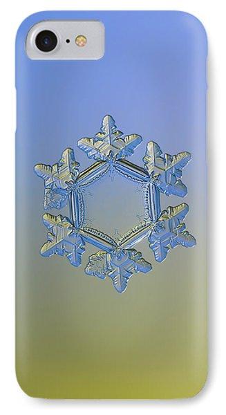 Snowflake Photo - Sunflower, Golden Version Phone Case by Alexey Kljatov