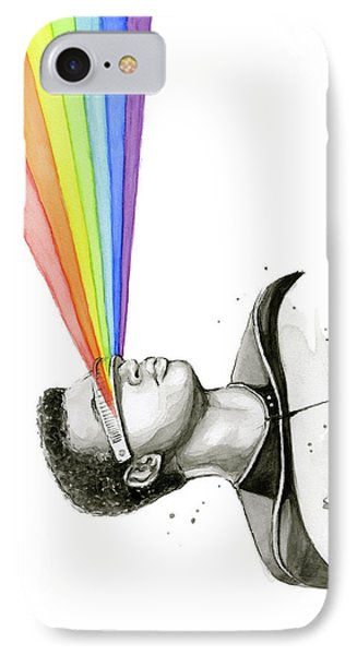 Geordi Sees The Rainbow IPhone Case by Olga Shvartsur