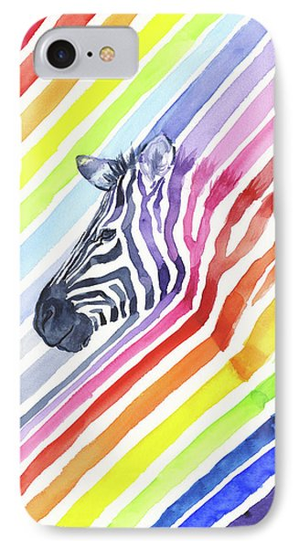 Rainbow Zebra Pattern IPhone Case