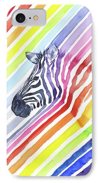 Rainbow Zebra Pattern IPhone Case by Olga Shvartsur