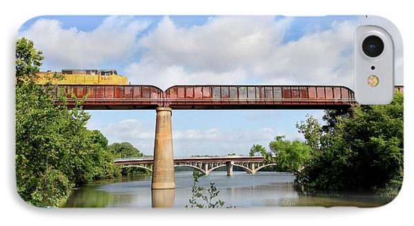 Train Across Lady Bird Lake IPhone Case