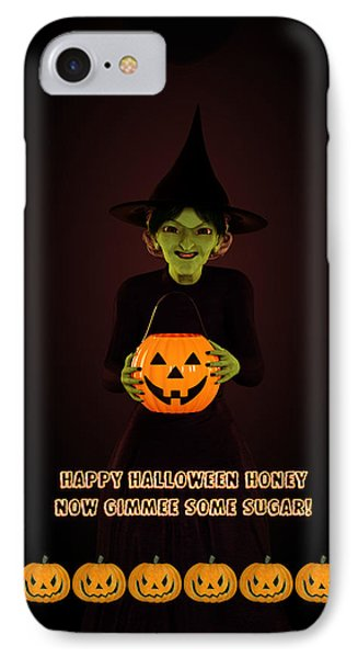 IPhone Case featuring the digital art Gimmee Some Sugar Witch by Methune Hively