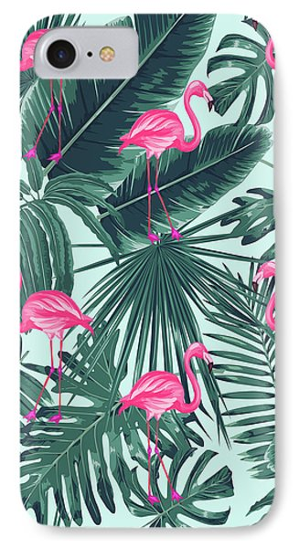 Tropical Pink Flamingo IPhone Case by Mark Ashkenazi