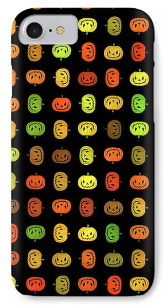 IPhone Case featuring the digital art Jack-o-lanterns by Methune Hively