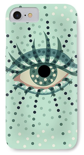 Beautiful Abstract Dotted Blue Eye IPhone Case