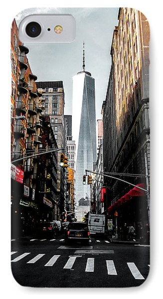 IPhone Case featuring the photograph Lower Manhattan One Wtc by Nicklas Gustafsson