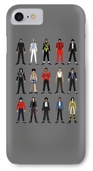 Outfits Of Michael Jackson IPhone Case by Notsniw Art
