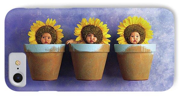 Sunflower iPhone 7 Case - Sunflower Pots by Anne Geddes