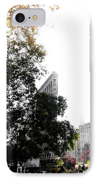Broadway iPhone 7 Case - Flatiron Autumn  by Nicklas Gustafsson