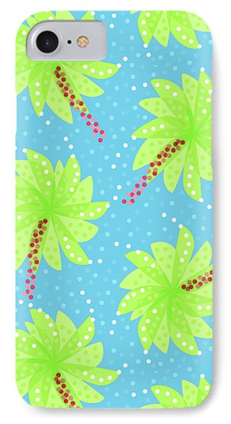 Green Flowers In The Wind IPhone Case