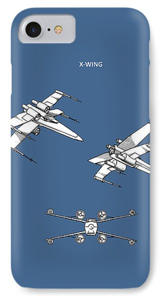 Star Wars - X-wing Patent IPhone Case by Mark Rogan