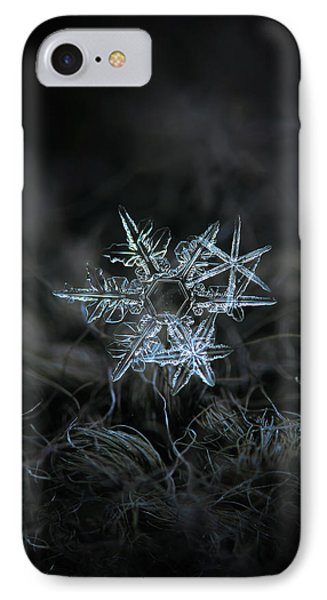 IPhone Case featuring the photograph Snowflake Of 19 March 2013 by Alexey Kljatov