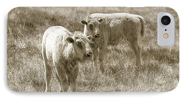 IPhone Case featuring the photograph Pair Of Baby Buffalos by Rebecca Margraf