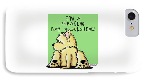 Cairn Terrier Sunshine Phone Case by Kim Niles
