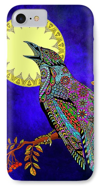 Electric Crow IPhone Case by Tammy Wetzel