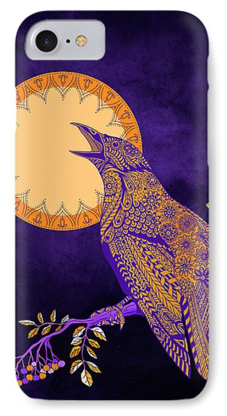 Halloween Crow And Moon IPhone Case by Tammy Wetzel