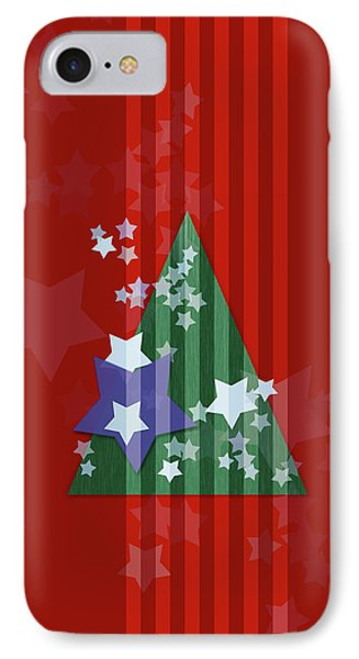 Stars And Stripes - Christmas Edition IPhone Case by AugenWerk Susann Serfezi