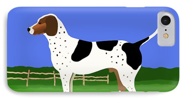 German Shorthaired Pointer In A Field IPhone Case