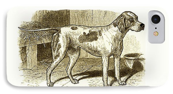 IPhone Case featuring the painting Vintage Sepia German Shorthaired Pointer by Marian Cates