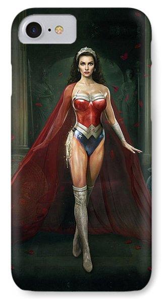 Wonder Woman IPhone Case by Joe Roberts