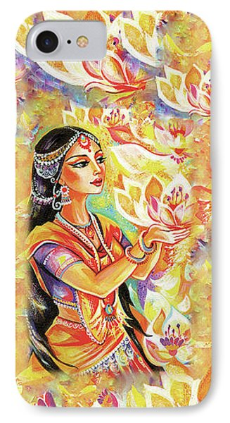 Pray Of The Lotus River IPhone 7 Case by Eva Campbell