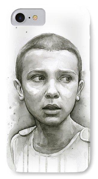 Stranger Things Eleven Upside Down Art Portrait IPhone Case