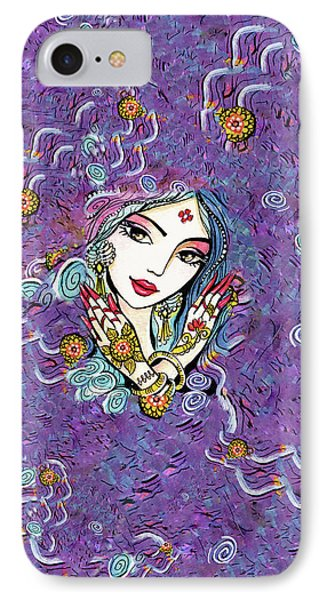 IPhone 7 Case featuring the painting Hands Of India by Eva Campbell