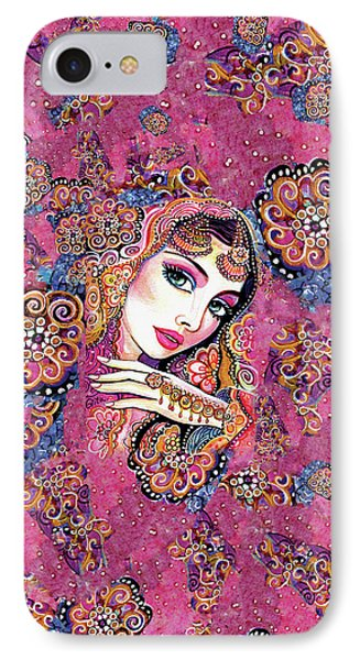 IPhone 7 Case featuring the painting Kumari by Eva Campbell
