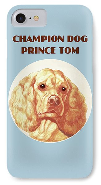 IPhone Case featuring the painting Champion Dog Prince Tom by Marian Cates